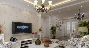 90平米韩式客厅电视背景墙装修效果图鉴赏