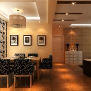 中式风格餐馆吊顶设计