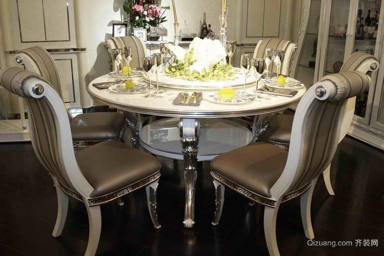 欧式折叠式实木餐桌