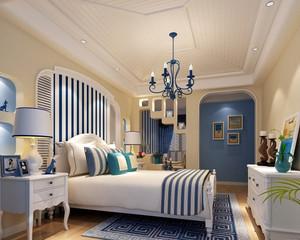 100平米地中海风格卧室装修墙纸大全