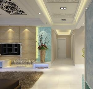 90平米大户型欧式客厅过道吊顶装修效果图