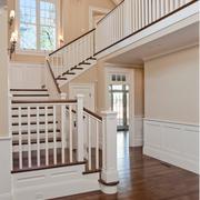 宜家白色实木楼梯