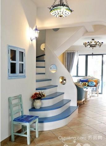 唯美地中海单身公寓装修效果图