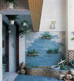 复式楼阳台花园装修设计效果图
