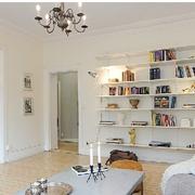 白色调书柜装修设计