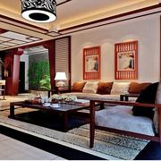 淡雅新中式客厅图片