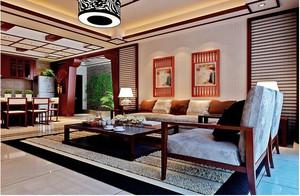 2015东南亚风格客厅装修效果图大全