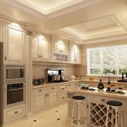 冷色调厨房吧台设计