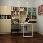 木色调书柜装修设计