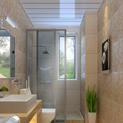 米白色卫生间装饰画