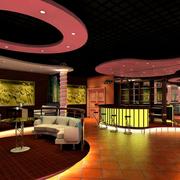 动感酒吧吊顶设计