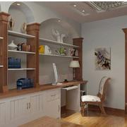 清新型书柜设计图片