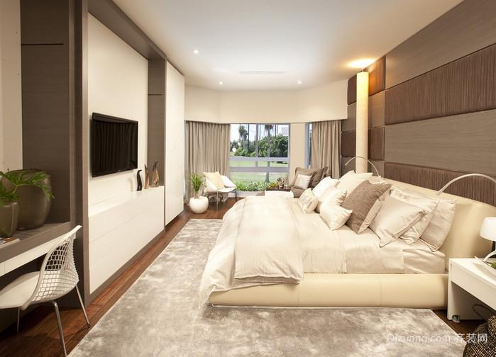 2015现代时尚卧室榻榻米床装修效果图