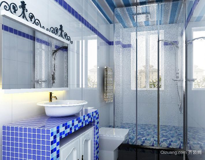 2015中小户型地中海风格卫生间设计装修效果图欣赏