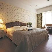 唯美系列卧室壁纸装修