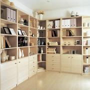 暖色调书柜装修设计
