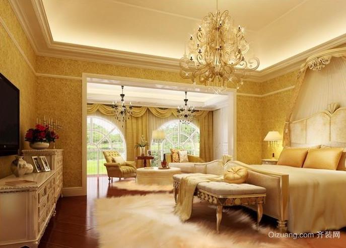 50平米别墅豪华欧式卧室装修效果图