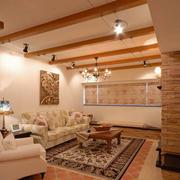 别墅客厅美式吊顶