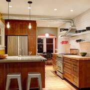 实木厨房吧台设计