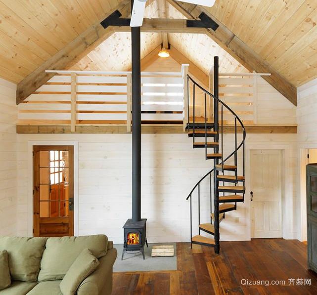 70平米复式楼楼梯装修效果图