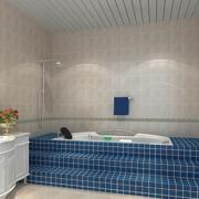 卫生间蓝色瓷砖阶梯