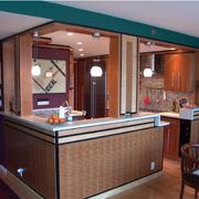 灰色调厨房吧台设计