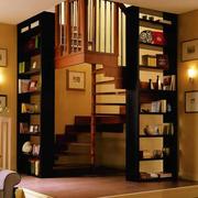 现代阁楼书房楼梯