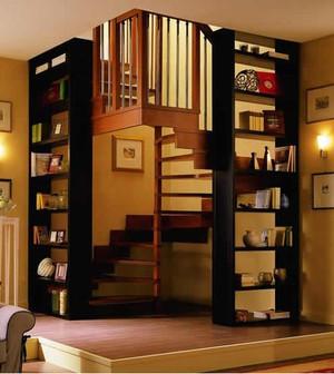 美式风格阁楼楼梯装修效果图大全