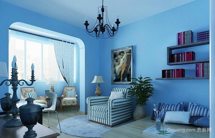 地中海风格自然清新小别墅阳台装修效果图