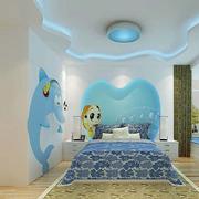 浪漫儿童卧室背景墙