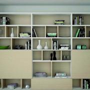 淡色调书柜装修设计