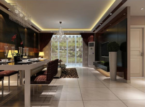 70平米全新后现代风格客厅吊顶装修效果图