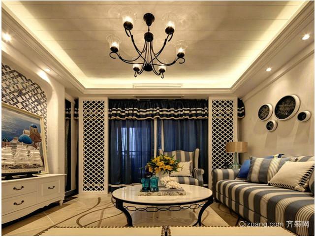 三室一厅地中海吊顶装修效果图