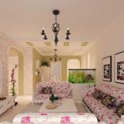 别墅韩式客厅装饰画