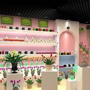 粉色调花店装修图片