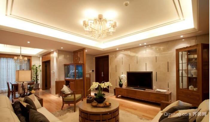 中式小户型客厅背景墙效果图
