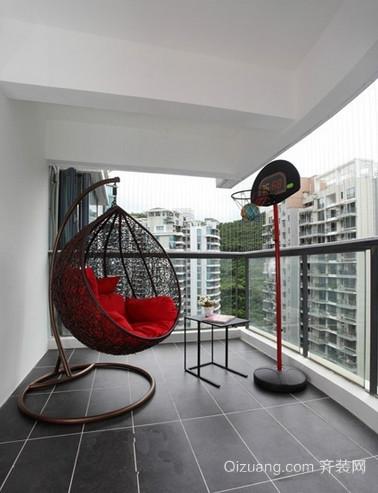 迷人别墅阳台吊椅装修效果图