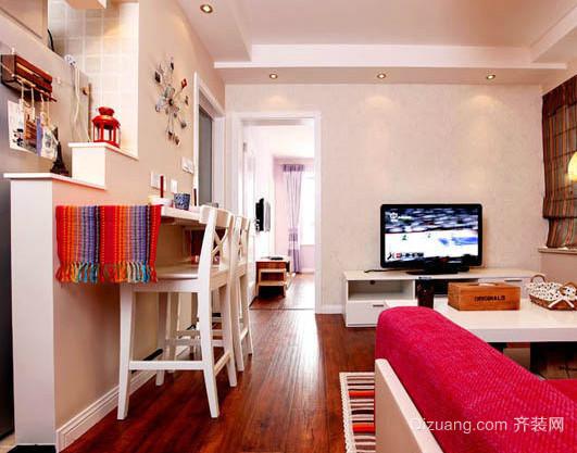两室一厅简约客厅木地板装修设计效果图