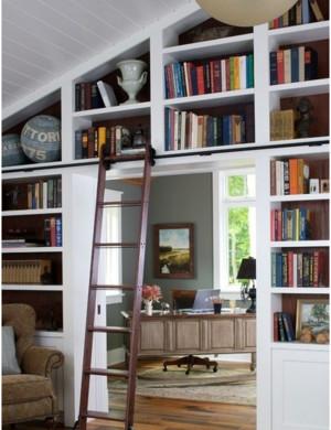 书房时尚集成吊顶装修效果图