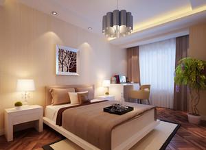 110平米中式风格卧室背景墙装修效果图鉴赏