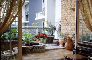 敞亮型阳台设计图片