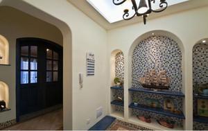 地中海风格进门玄关装修效果图
