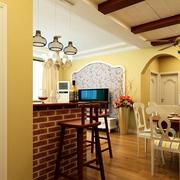 家庭复古典雅的吧台