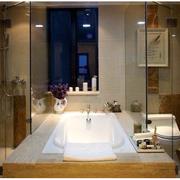 浴室玻璃隔断装修图片