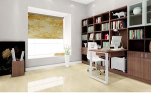 2015高端大气90平米客厅书柜背景墙装修效果图