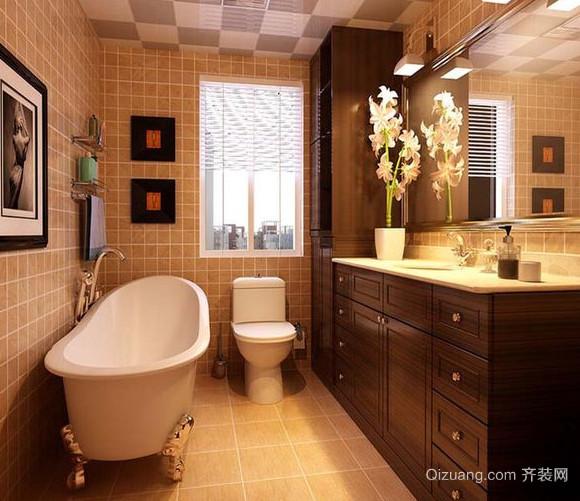 中式现代简约风格卫生间装修效果图