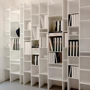 大户型简约白色书柜