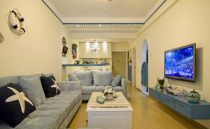 100平米地中海风格客厅电视背景墙装修效果图鉴赏