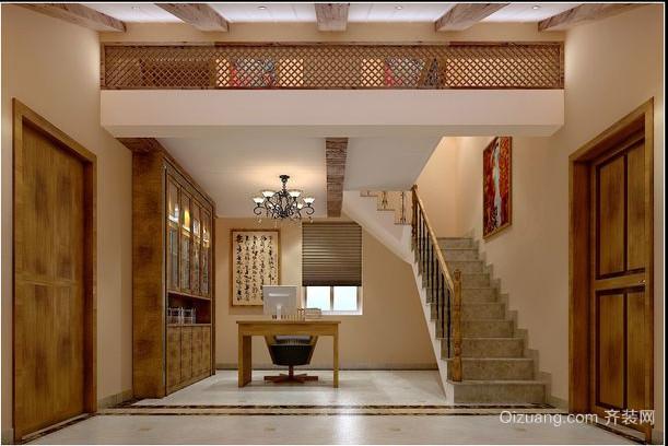 东南亚别墅楼梯装修效果图