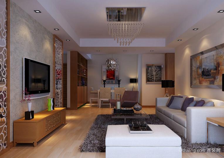 110㎡都市风格客厅电视背景墙装修效果图鉴赏
